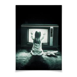 """Плакат A2(42x59) """"Полтергейст"""" - страх, кино, призрак, ужасы, привидение"""