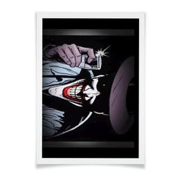 """Плакат A2(42x59) """"Джокер"""" - джокер, улыбка, шутка, смертельная"""