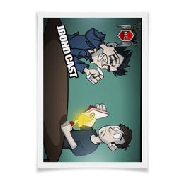 """Плакат A2(42x59) """"Jbond-cast Выпуск 1"""" - my little pony, пинки пай, эквестрия, знак отличия, jbond cast"""