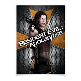 "Плакат A2(42x59) ""Обитель зла"" - зомби, фантастика, resident evil, вирус, милла йовович"