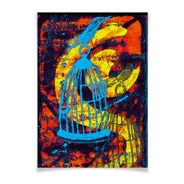 "Плакат A2(42x59) ""клетка"" - рисунок, картина, абстракция, искусство, яркие цвета"
