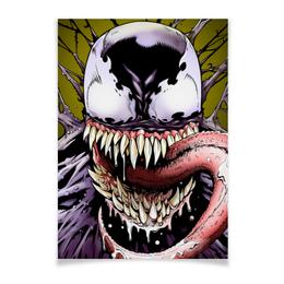 "Плакат A2(42x59) ""Веном (Venom)"" - комиксы, venom, марвел, веном, симбиот"