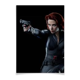 """Плакат A2(42x59) """"Черная вдова"""" - комиксы, marvel, мстители, марвел, скарлетт йоханссон"""