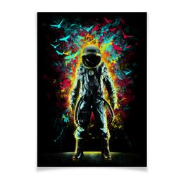 """Плакат A2(42x59) """"Внутреннее Пространство"""" - арт, space, абстракция, космонавт, пространство"""