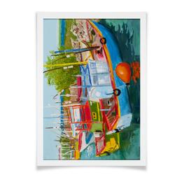 """Плакат A2(42x59) """"Рыбацкие лодки в Мирисе"""" - арт, импрессионизм"""