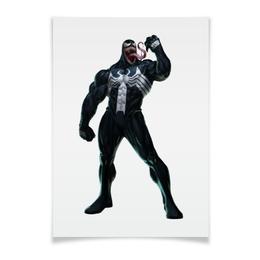 """Плакат A2(42x59) """"Venom / Веном"""" - venom, marvel, spiderman, марвел, человек-паук"""