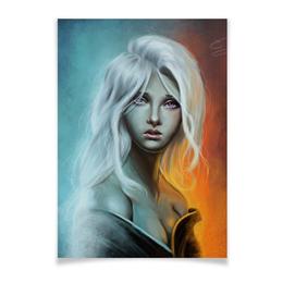 """Плакат A2(42x59) """"Дейенерис Таргариен"""" - игра престолов, game of thrones, дейенерис таргариен, daenerys targaryen"""