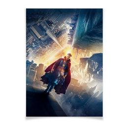 "Плакат A2(42x59) ""Доктор Стрэндж"" - комиксы, кино, марвел, бенедикт камбербэтч, doctor strange"