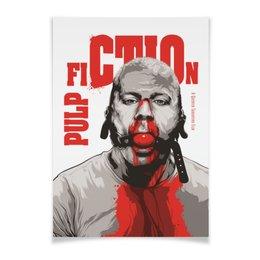 """Плакат A2(42x59) """"Pulp Fiction (Брюс Уиллис)"""" - pulp fiction, брюс уиллис, криминальное чтиво, тарантино, кино"""