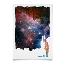 """Плакат A2(42x59) """"Перекрашивание"""" - space, космос, абстракция, галактика, арт"""