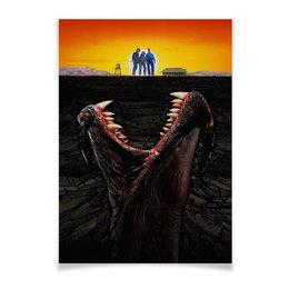 """Плакат A2(42x59) """"Дрожь земли / Tremors"""" - ужас, ужасы, дрожь земли, tremors, подземные черви"""