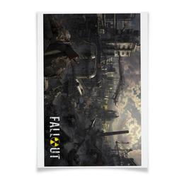 """Плакат A2(42x59) """"Fallout игра"""" - games, игра, фантастика, fallout, фаллаут"""