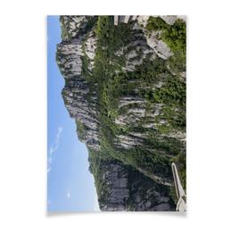 """Плакат A2(42x59) """"Монсеррат"""" - туризм, испания, каталония, гора, монастырь"""