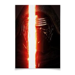 """Плакат A2(42x59) """"Звездные войны - Кайло Рен"""" - кино, фантастика, star wars, звездные войны, дарт вейдер"""