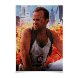 """Плакат A2(42x59) """"Брюс Уиллис плакат 90-е"""" - брюс уиллис"""