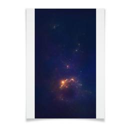 "Плакат A2(42x59) ""туманность"" - фантастика, космос, туманность, звезды, небо"