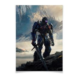 "Плакат A2(42x59) ""Трансформеры"" - фантастика, роботы, transformers, трансформеры, автоботы"