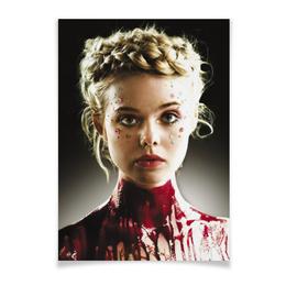 """Плакат A2(42x59) """"Неоновый демон"""" - девушка, кино, мечта, модель, эль фаннинг"""