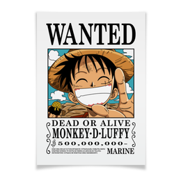 "Плакат A2(42x59) ""One Piece"" - аниме, манга, ван пис, one piece, луффи соломенная шляпа"