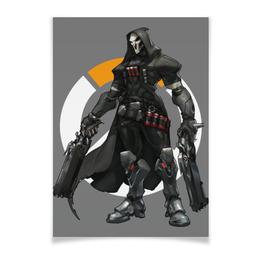 "Плакат A2(42x59) ""Overwatch Reaper / Жнец Овервотч"" - overwatch, reaper, жнец, овервотч"