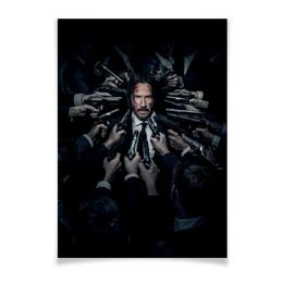 "Плакат A2(42x59) ""Джон Уик"" - актер, боевик, убийца, киану ривз, john wick"