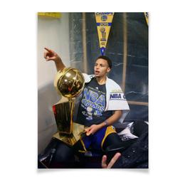 "Плакат A2(42x59) ""Stephen Curry"" - баскетбол, nba, нба, golden state warriors, стефен карри"