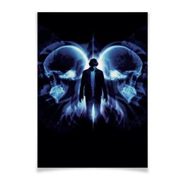 "Плакат A2(42x59) ""Эффект бабочки"" - череп, кино, фантастика, будущее, эштон катчер"