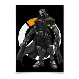 "Плакат A2(42x59) ""Overwatch Reaper / Жнец Овервотч"" - игры, overwatch, reaper, жнец, овервотч"