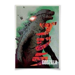 "Плакат A2(42x59) ""Годзилла / Godzilla"" - фантастика, япония, годзилла, godzilla, кинопостер"