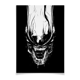 "Плакат A2(42x59) ""Xenoblack"" - стиль, alien, movie, alienmovie, ellenripley"