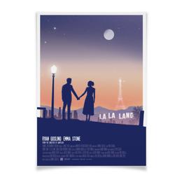"""Плакат A2(42x59) """"Ла-Ла Ленд / La La Land"""" - райан гослинг, эмма стоун, ла-ла ленд, дэмьен шазелл, ла ла ленд"""