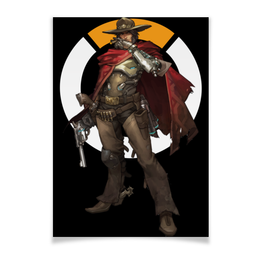 "Плакат A2(42x59) ""McCree Overwatch / МАККРИ Овервотч"" - игры, overwatch, mccree, овервотч, маккри"