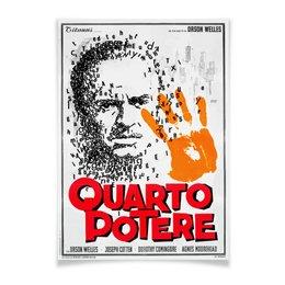 "Плакат A2(42x59) ""Гражданин Кейн / Citizen Kane / Quarto Potere"" - кинопостер, citizen kane, гражданин кейн, орсон уэллс, магнат"