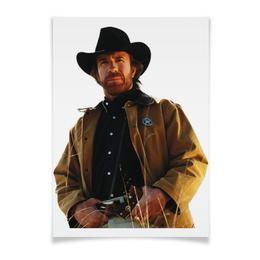"""Плакат A2(42x59) """"Чак Норрис плакат 90-е"""" - чак норрис"""