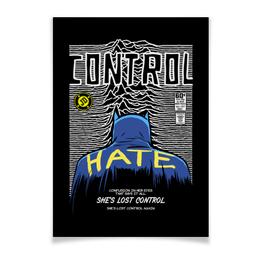 "Плакат A2(42x59) ""Иэн Кёртис Бэтмен"" - batman, joy division, бэтмен, ian curtis, иэн кёртис"
