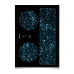 """Плакат A2(42x59) """"Карта звёздного неба"""" - карта, дизайн, звёзды"""