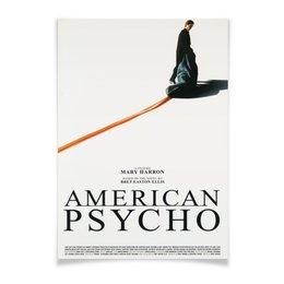 "Плакат A2(42x59) ""Американский психопат / American Psycho"" - америка, кровь, американский психопат, american psycho, кристиан бэйл"