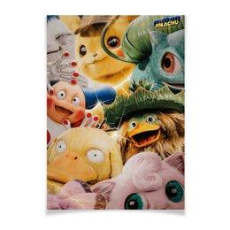 """Плакат A2(42x59) """"Покемон: Детектив Пикачу / Detective Pikachu"""" - мультфильм, pokemon, покемон, детектив пикачу, detective pikachu"""