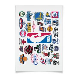 """Плакат A2(42x59) """"NBA. Национальная баскетбольная ассоциация"""" - баскетбол, nba"""