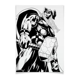 "Плакат A2(42x59) ""Тор  "" - комиксы, мстители, avengers, марвел, thor"