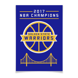 "Плакат A2(42x59) ""Golden State Champions"" - баскетбол, nba, нба, golden state warriors, кевин дюрант"