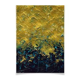 "Плакат A2(42x59) ""Abstract"" - картина, разводы, абстракция, живопись, флюид"