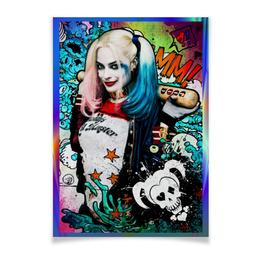 "Плакат A2(42x59) ""Отряд Самоубийц: Харли Квинн"" - отряд самоубийц, suicide squad, харли квинн, harley quinn, фэн-арт"