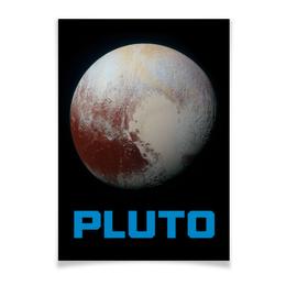 """Плакат A2(42x59) """"Плутон"""" - звезды, космос, вселенная, космический, thespaceway"""