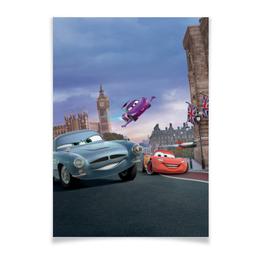 """Плакат A2(42x59) """"Тачки"""" - мультфильм, дисней, машина, тачки, молния"""