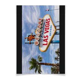 """Плакат A2(42x59) """"Лас-Вегас (горизонтальный)"""" - америка, usa, вегас, лас вегас, las vegas"""