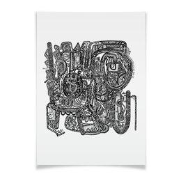 "Плакат A2(42x59) ""Петрушкин Лабиринт"" - арт, узор, абстракция, фигуры, текстура"