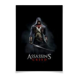 """Плакат A2(42x59) """"Assassins Creed (Unity Arno)"""" - игра, assassins creed, воин, unity arno, арно"""