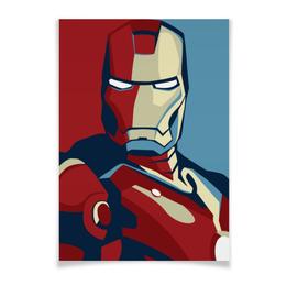"Плакат A2(42x59) ""ЖЕЛЕЗНЫЙ ЧЕЛОВЕК"" - marvel, мстители, avengers, железный человек, iron man"