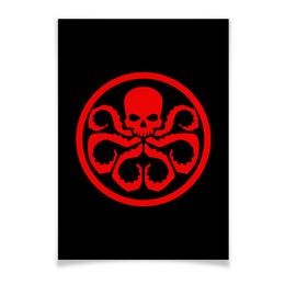 "Плакат A2(42x59) ""Avengers Hydra / Мстители Гидра"" - арт, мстители, avengers, hydra, гидра"